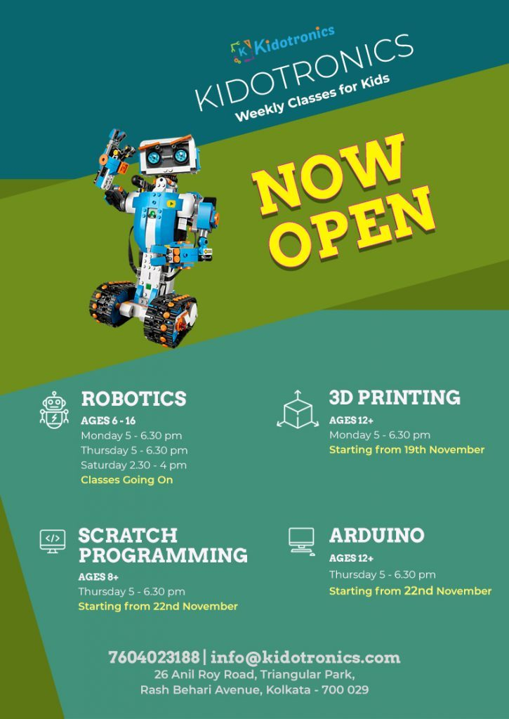 Kidotronics| Robotics & STEM destination of Kolkata. Robotics, 3d printing, Arduino, Drone training