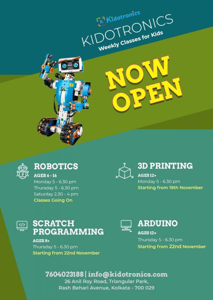 Kidotronics| Robotics & STEM destination of Kolkata. Robotics, 3d printing, Arduino, Drone training